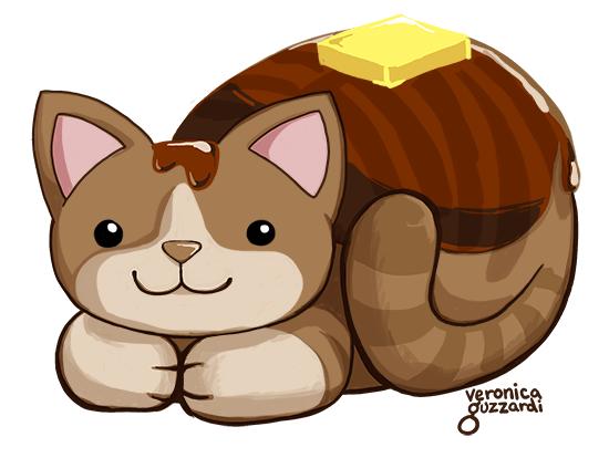 Cat Pancake Doodle