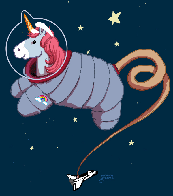 ASTRONAUT UNICORN PRINCESS